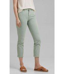 pantalón tobillero elástico verde claro esprit