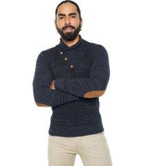 buzo bufanda matizado azul oscuro / azul jean smalto