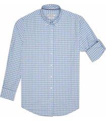 camisa casual manga larga a cuadros slim fit para hombre 94312