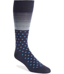 men's cole haan stripe & dot socks, size one size - blue