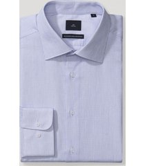 camisa cuello italiano blanco/celeste trial