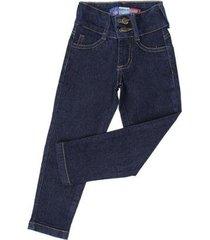 calça jeans infantil modelo slim fit rodeo western feminina