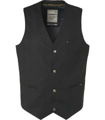 no excess gilet, jersey denim look, ao print black