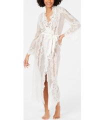 inc ivory lace wrap robe, created for macy's