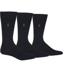 polo ralph lauren men's 3 pack ribbed dress socks