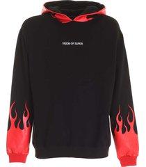 vision of super hoodie red flames