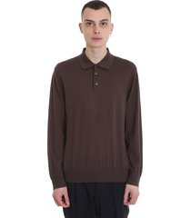 z zegna polo in taupe cotton