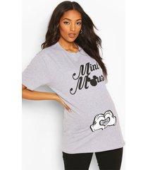 maternity disney mini mouse slogan t-shirt, light grey