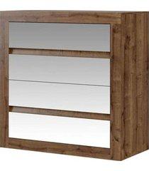 cômoda c/ espelho 4 gavetas native móveis carraro