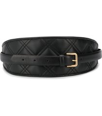philosophy di lorenzo serafini quilted waist belt - black