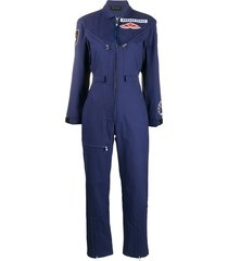 mr & mrs italy tailored badges jumpsuit - blue