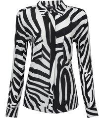 camisa seda belle (zebra p & b, 42)