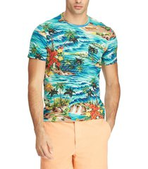 polera slim fit tropical multicolor polo ralph lauren