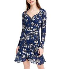 b darlin juniors' floral a-line dress