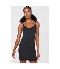 vestido lupo curto modelador preto