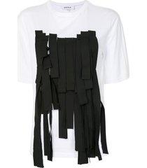 enföld ribbon front t-shirt - white