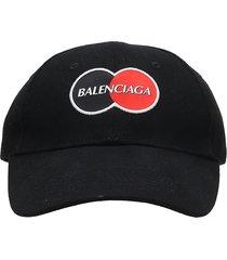 balenciaga uniform hats in black cotton