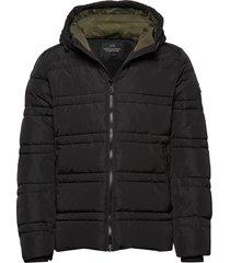 classic hooded primaloft jacket gevoerd jack zwart scotch & soda