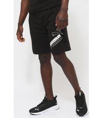 short puma big logo shorts 10 tr negro - calce regular