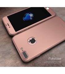 iphone 7 plus 360 full body cover shock defense case w/ glass screen (rose gold)