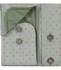 sleeve7 overhemd groen kleuren stip pied-de-poule print widespread