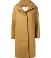 mackintosh autumn bonded cotton hooded coat lr-021 - brown