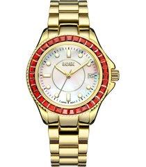 reloj loix mujer gold/rojo l1159-2