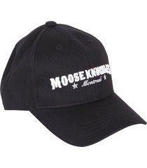 moose knuckles western script cap