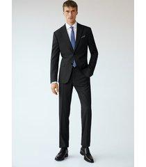 regular-fit pantalon met microstructuur