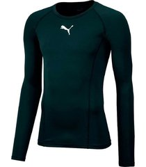 remera negra puma liga baselayer