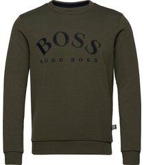 salbo sweat-shirt tröja grön boss
