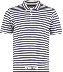 c.p. company logo detail stretch cotton polo shirt