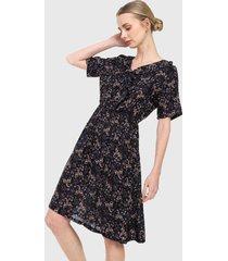 vestido negro-azul-vinotinto paris district