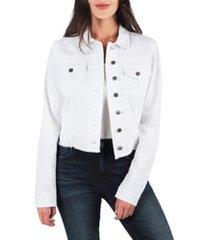 women's kut from the kloth kara denim jacket, size x-small - white