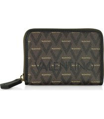 valentino by mario valentino designer wallets, liuto signature eco leather small zip around wallet