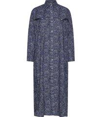thora dress maxi dress galajurk blauw nué notes