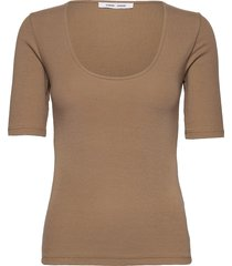 alexo ss t-shirt 7542 t-shirts & tops short-sleeved lila samsøe samsøe