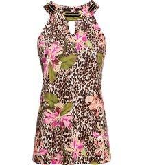 top leopardato a fiori (beige) - bodyflirt boutique