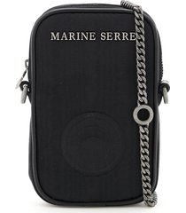marine serre one pocket phone case mini bag