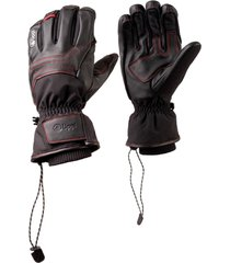 guante snow raptor b-dry leather negro lippi