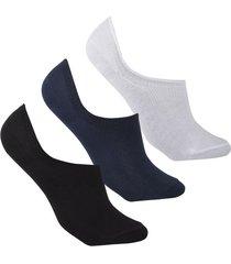 medias tipo baleta invisibles diseños uou socks pack x 3 colores und envio gratuito
