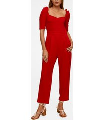 mango women's flowy long jumpsuit