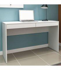 mesa escrivaninha 2 gavetas ho-2932 branco - hecol