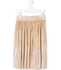 andorine pleated metallic skirt - neutrals