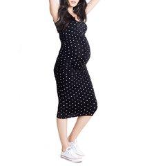 women's ingrid & isabel shirred midi maternity tank dress