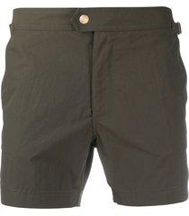 tom ford straight-leg swim shorts - black