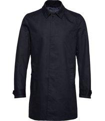 carred trenchcoat lange jas zwart tiger of sweden