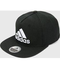 gorra negro-blanco adidas performance napback logo