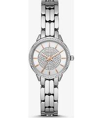 mk orologio allie mini tonalità argento - argento (argento) - michael kors