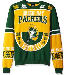 nfl green bay packers cotton retro throwback ugly sweater